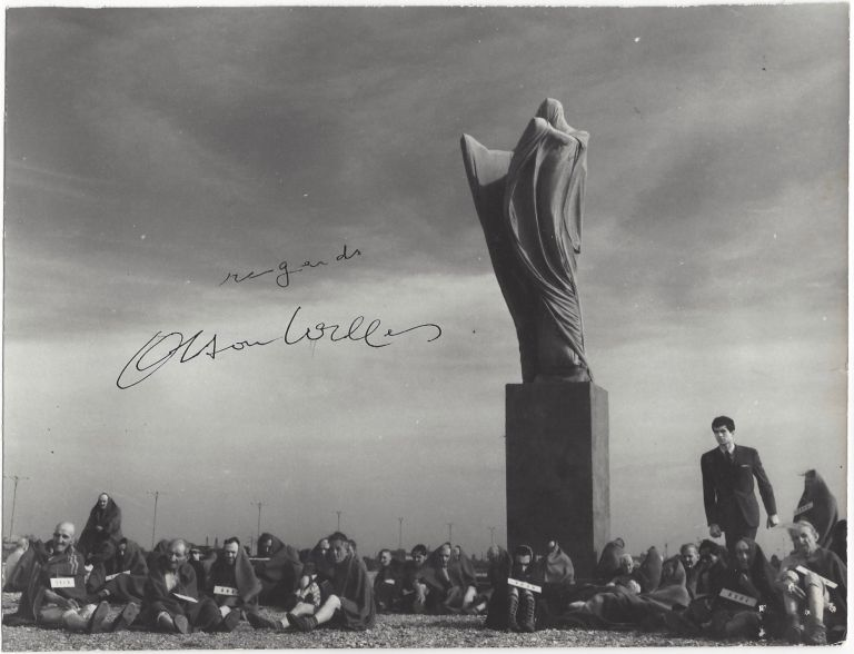 """Signed Still of the """"The Trial"""". Orson Welles, Franz Kafka."""
