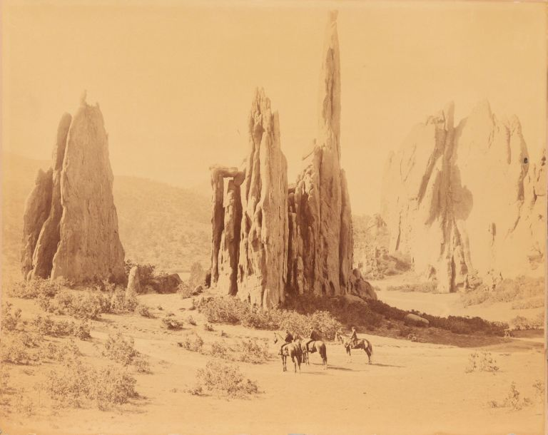 Cathedral Spires, Garden of the Gods, Colorado Springs, Colorado. William Henry Jackson.