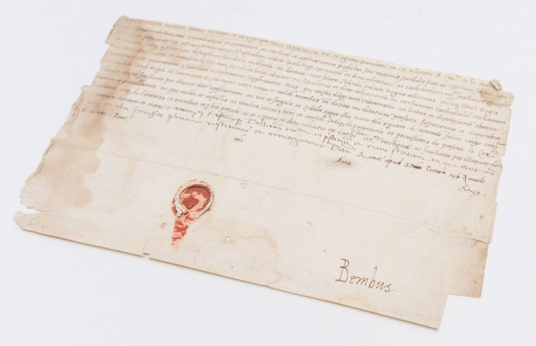 Papal brief, signed by Pietro Bembo, the secretary to Leo X. Pietro Bembo, Leo X.