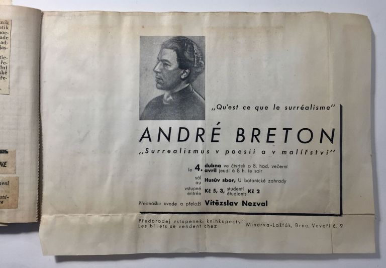 A Collection of Documents Related to Breton's Visit to Prague in 1935. André Breton.