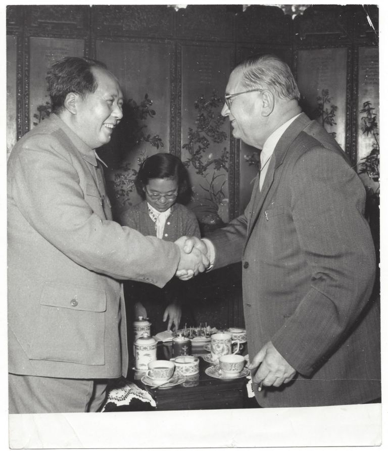 A Collection of 10 Official Photos of the Meetings Between Chinese and Hungarian Communist Leaders in China in 1957 and 1959. Mao Zedong, Zhou Enlai, János Kádár, Ferenc Münnich.