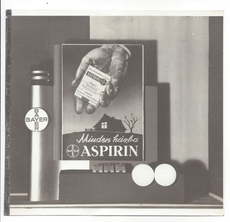 6 Photographs of Art Deco Advertisements for Bayer Aspirin. István Rottler.