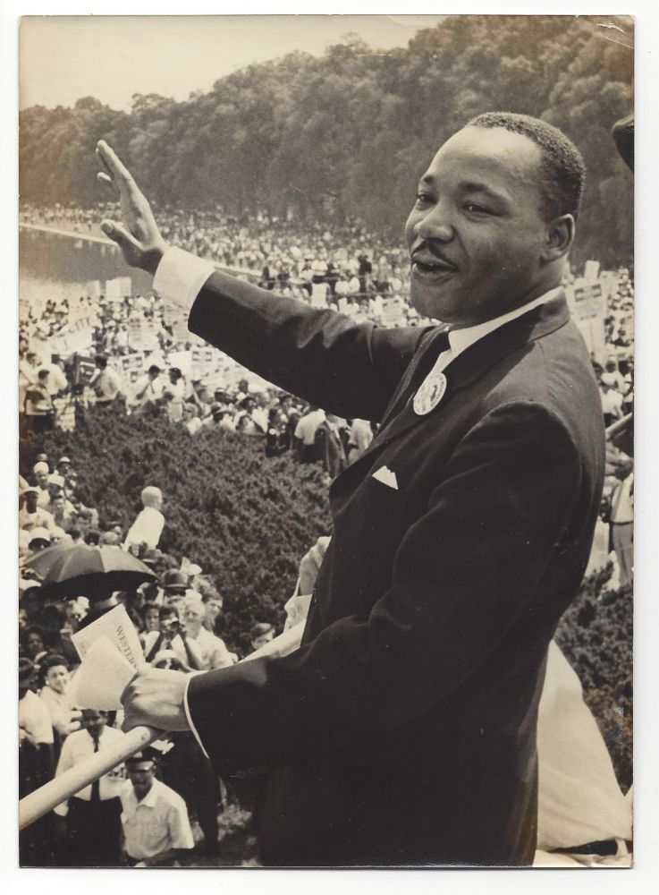 Photograph of Martin Luther King.
