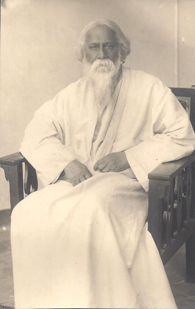 Photograph of Rabindranath Tagore. [With:] an Autograph Letter by Amiya Chakravarty.