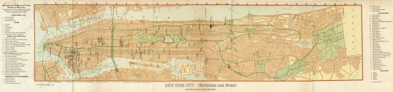 Map of the Jewish institutions in New York City 1904
