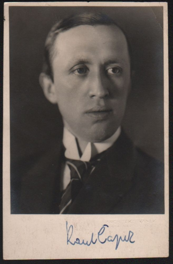 Signed Photo Portrait. Karel Capek, Karel Čapek.