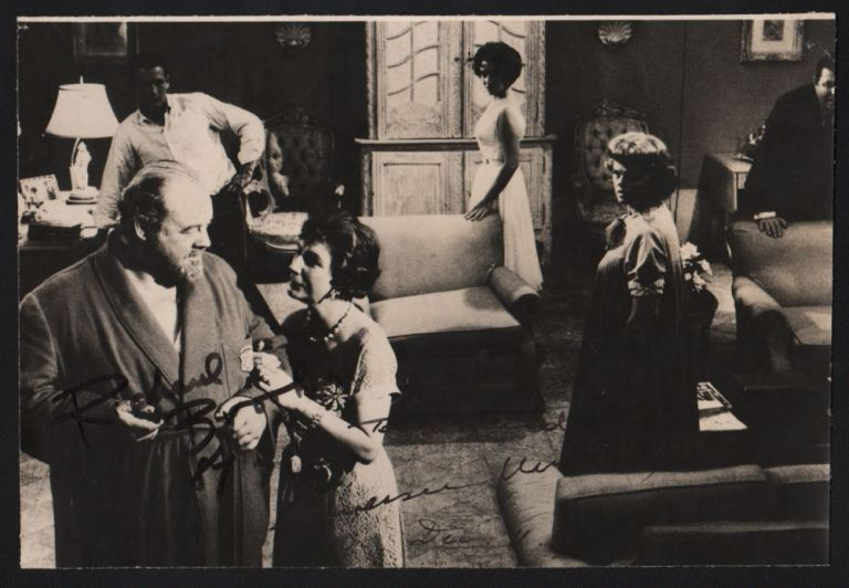 "Signed still from the ""Cat on a Hot Tin Roof"". Tennessee Williams, Richard Brooks."