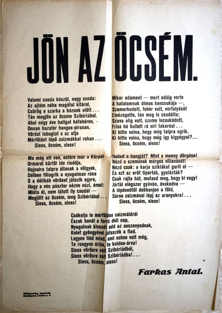 Jön az öcsém. [My Brother is Coming.]. Michael Curtiz, Antal Farkas.