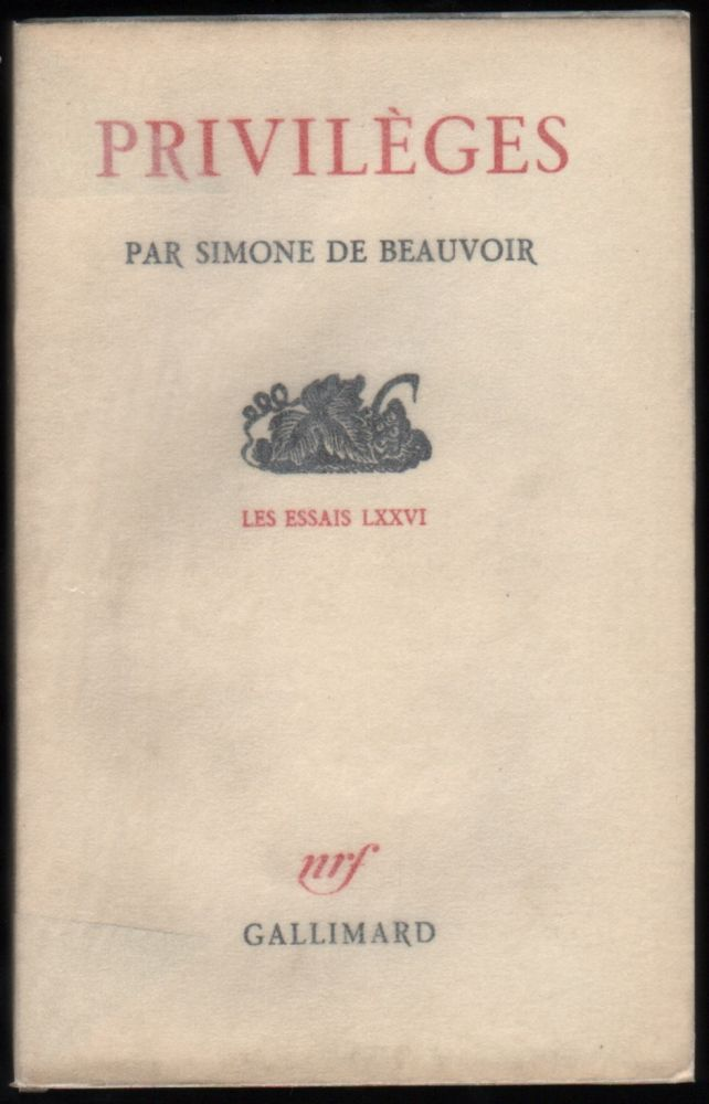 Simone de beauvoir essays