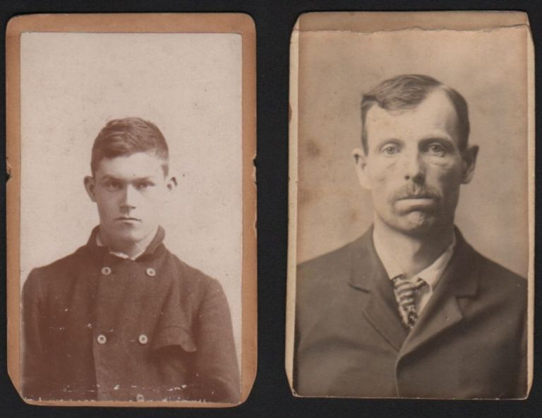Collection of Two Early American Mugshots