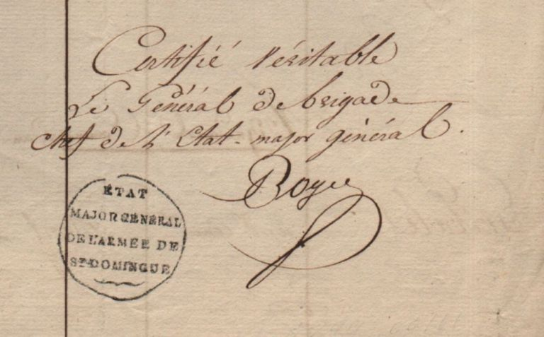 Register of deceased of the French Army in Saint-Domingue. Pierre François Joseph Boyer.