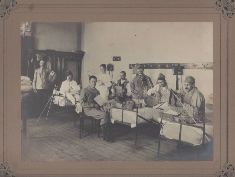 Photo-Documentation of Occupational Therapy for Wounded and Mentally Ill Soldiers of World War I, in Transylvania Between 1914–1917. Zsigmond Mrs Zombory.
