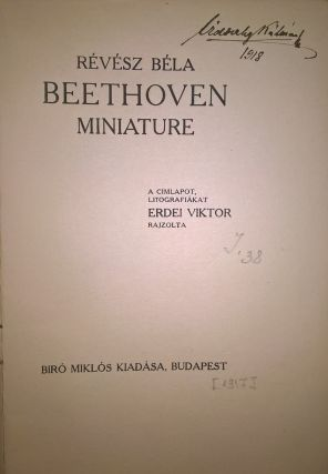 Beethoven. Miniature. [Beethoven. Miniature.]