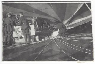 A Collection of Twelve Photographs Documenting the 1935 Gordon Bennett Cup Gas Balloon Racing in Warsaw.