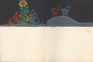 "Original Storyboard of the ""Tri Muzi"", the Animated Cartoon. Vladimir Lehky, Vladimir..."