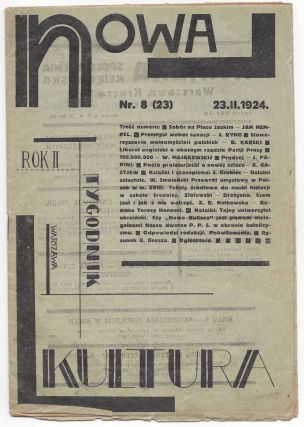 Nowa kultura. Tygodnik. Rok drugi Nr. 8 (23). 23. II. 1924. [New Culture. No. 8. (23). February...