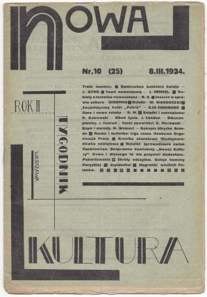 Nowa kultura. Tygodnik. Rok drugi Nr. 10 (25). 8. III. 1924. [New Culture. No. 10. (25). March 8,...