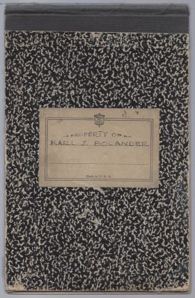 Karl S. Bolander's Sketchbook.