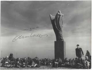 "Signed Still of the ""The Trial"". Orson Welles, Franz Kafka"