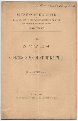 Notes on Ou-K'ong's Account of Kacmir (Kaçmīr). (Sitzungsberichte der Kais. Akademie der...