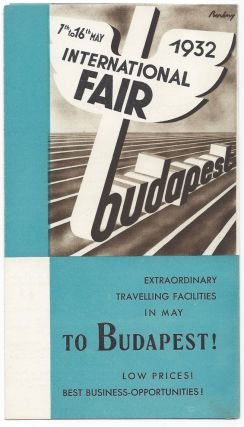 International Fair Budapest,1932. [Advertisment.]. Róbert Berény, Rudolf Balogh,...