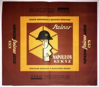 Steiner Napoleon Keksz] Decorative Wrapping of Steiner's Napoleon Biscuit