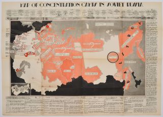 Map Of Concentration Camps In Soviet Russia. S. Starzewski, Sylwester pseud.: Mora, Piotr pseud.:...