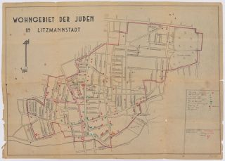 Wohngebiet der Juden in Litzmannstadt. [Residential Area of the Jews in Litzmannstadt