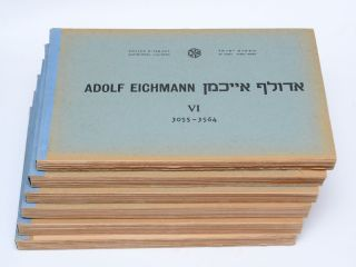 [Cover title:] Adolf Eichmann. אדולף אייכמן I[–VI]. 1–606[–3564]. Adolf Eichmann, Avner Less.