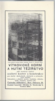 [Exhibition of International Modern Architecture. The Traveling Exhibition of the Deutscher Werkbund and a Selection of Czech Modern Architecture.] Vystava mezinarodni nove architektury. Putovni vystava korporavce Deutcher Werkbund a soubor ceslovenské nové architektury. Ustredni knihovna hlav. mesta Prahy. 15–31. V. 1929.
