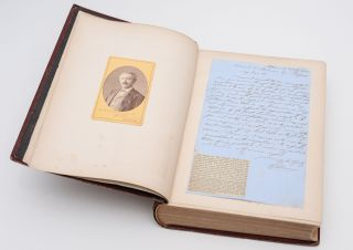 Autograph Letter and Signed Photographic Portrait.] Mycenæ. A Narrative of Researches and...