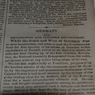 Revolution and Counterrevolution in Germany. (XIX) In: New-York Daily Tribune. Vol. XII. No. 3594. Saturday, October 23, 1852.