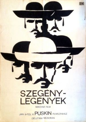 "Original design of the movie poster for ""Szegény legények"". [The Round-Up.]. Miklós..."
