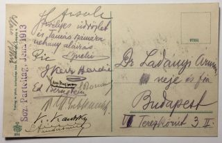 Postcard Signed By Early Prominent Socialists at the Sozialdemokratische Parteitag Jena, 1913....