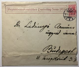 Postcard Signed By Early Prominent Socialists at the Sozialdemokratische Parteitag Jena, 1913.