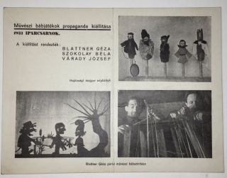 Photographically Illustrated Advertisement Postcard of a Modernist Puppetry Exhibition in...