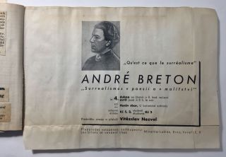 A Collection of Documents Related to Breton's Visit to Prague in 1935. André Breton