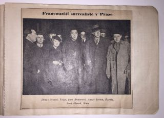 A Collection of Documents Related to Breton's Visit to Prague in 1935.
