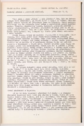 [Czech Samizdat Publication on Frank Zappa and The Mothers of Invention.]