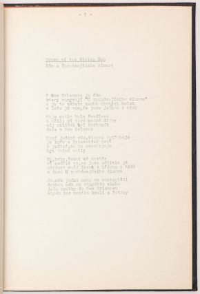 Czech Samizdat Edition of Bob Dylan Lyrics.]. Bob Dylan