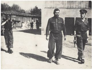 A Collection of 11 Photographs Taken in Nazi Bergen-Belsen and Buchenwald During the Liberation.] Guerre 1939–45. Fotografias dos Campos de Concentracao. / Novas Provas da Barbaria Nazi.