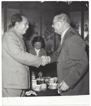 A Collection of 10 Official Photos of the Meetings Between Chinese and Hungarian Communist...