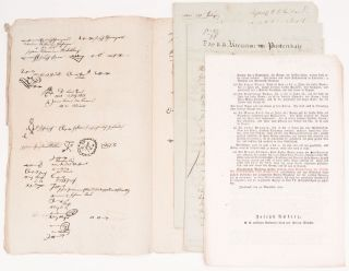 A Collection of 19th-Century Austrian Police Documents Related to the Use and the Users of...