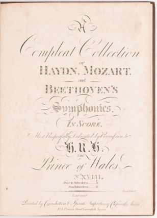 Jupiter Symphony. / Symphony No. 41 in C Major.] A Compleat Collection of Haydn, Mozart and...