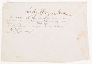 Autograph Note on an Envelope. With Władysław Mickiewicz Autograph Certification. Adam...
