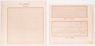 Three Original Telegraphs Related to the Surrender of Germany During WWI and the Peace Treaty of...