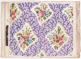 Register Book of Nicolas Yemeniz's Silk Fabric Pattern Designs. With Three Original Brocade...