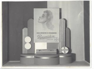 6 Photographs of Art Deco Advertisements for Bayer Aspirin.