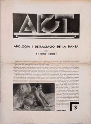 Art. [Revista de les Arts.] No. 3 (–5, 8, 9). [Art. Art Journal.]. Enric Crous-Vidal, Antoni...