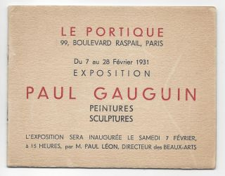 Exhibition Invitations from the Collection of Emil Szittya. Emil Szittya, Paul Gauguin, Jean...